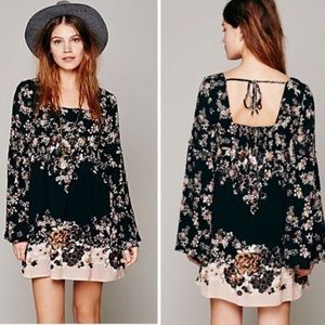 Free People Bell Sleeve Floral Dress